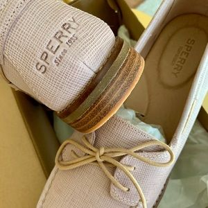 Sperry Seaport Leather Oxford Blush 11